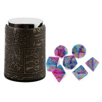 7PCS Polyhedral Dice for Dungeons and Dragons DND RPG MTG+Dice Cup Purple