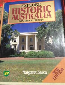 EXPLORE HISTORIC AUSTRALIA , 1200 PLACES , 80 MAPS by BARCA,1987