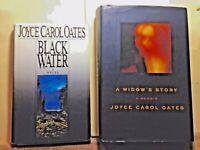 Joyce Carol Oates, A Widow's Story AND Black Water, HC 1st edition literary gems