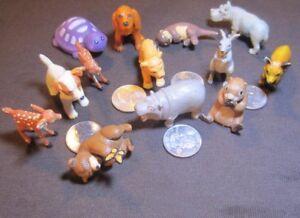 Dog Figures Animals Topps 1998 Rubber Fawns Hippo Kangaroo Lion Fox + 13