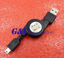 10Pcs new Retractable Data Transfer Usb Male to Mini Usb B 5-Pin Charging Cable
