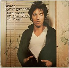 """BRUCE SPRINGSTEEN HAND SIGNED 12"""" VINYL - DARKNESS ON THE EDGE OF TOWN - PROOF."""