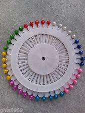 40 épingles tête rondes en couleur, une roue de 40 épingles têtes rondes ,37mm