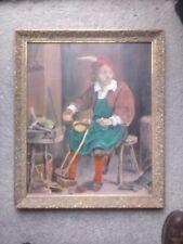 Gemälde Handwerker Öl auf Leinwand um 1940
