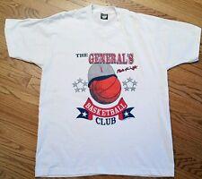 Indiana Hoosiers IU Bobby Bob Knight General's Basketball Club T-Shirt 1990 XL