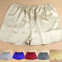 3Pcs 2015 NEW Women's 100% Silk Boyshorts Panties Bikinis Solid and M L XL