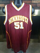 Vintage Minnesota Golden Gophers #51 Ncaa Basketball Jersey Mens Medium Stitched