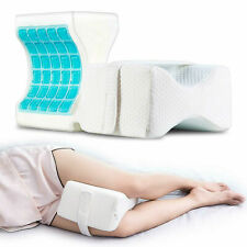 Knee Pillow Leg Pillow Support Cushion With Cooling Gel Wedge for Side Sleepers