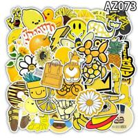 50 Pcs Cartoon Yellow Stickers  Chidren Toy Waterproof StickerHelmet Car Decals