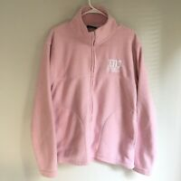 University Of Denver DU Women's Pink Fleece Jacket Sweatshirt Size Small Zip Up