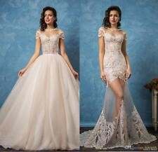 Two Pieces Detachable Bodice Mermaid Lace Wedding Dresses Bridal Gowns