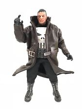 SU-LTC-TN: Dark Brown Wired Trench Coat for Mezco One:12 Punisher (No Figure)