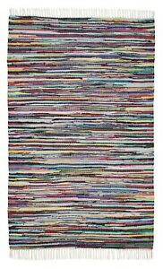 100 /% Baumwolle Flickenteppich 150 x 80 Top Qualität 1800 Gramm