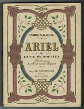 MAUROIS ARIEL VIE SHELLEY MORNAY 1932 illustré FARGEOT UN DES 20 RIVES + suite