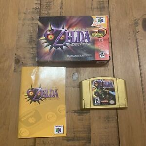 N64 Legend of Zelda Majora's Mask - Collectors edition - Gold Cart w/ box