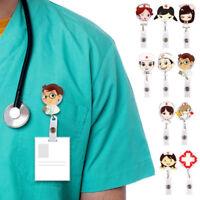 Retractable Badge Reel Nurse Exihibiton ID Name Card Badge Holder For School