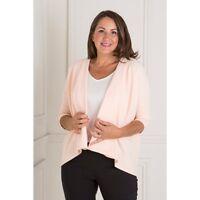 Nicole Crepe Waterfall Jacket, S-8-10 Blush