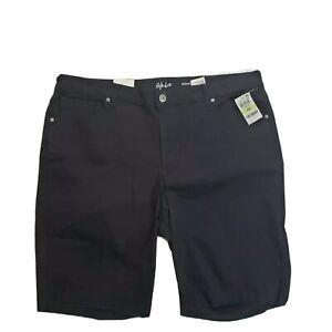 Style & Co. Women's Plus Mid Rise Black Bermuda Denim Shorts Various Sizes