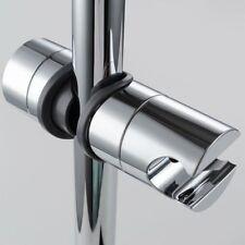 18~25mm Adjustable ABS Chrome Shower Rail Head Slider Holder Bracket Slide Clamp