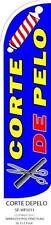 Corte De Pelo King Size  Windless 38 x 138 in Polyester Swooper Flag