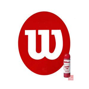 Wilson Tennis Stencil and Wilson Red Stencil Ink