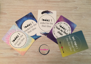 Baby Milestone Novelty Moments Cards | Boho | Colourful 25 cards |Unisex | Gift