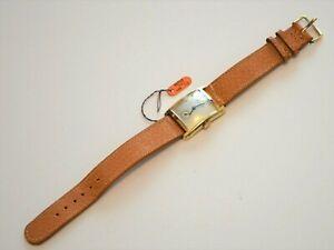 Vintage Men's 14K Gold 17J Bulova GRANT 1940's Serviced Watch original Band Tags