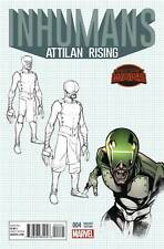 Inhumans Attilan Rising #4 of 4 1:25 Variant First Print Secret Wars
