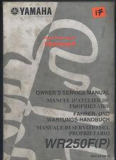 Genuine Yamaha WR250F-P (01-02) Manual de servicio de los propietarios de fábrica WR 250 F 5PH AB33