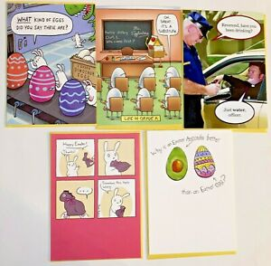 NEW RECYCLED PAPER GREETINGS LOT OF 5 EASTER CARDS $16.95 VALUE BY PAPYRUS