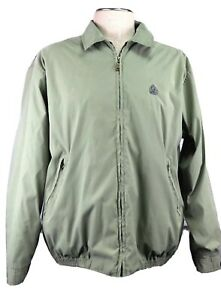 Izod Men's XL light weight, lined, vented green jacket ~ Flaw on inside sleeve