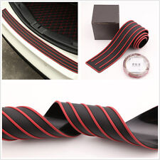 Rear Trunk Guard Plate Bumper Sill/Protector Plate Rubber Cover Pad Red + Black