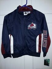 Colorado Avalanche Hockey NHL apparel track Jacket athletic coat NEW - Youth S