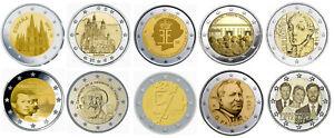 LOTTO 10 PEZZI 2 EURO COMMEMORATIVI 2012 FDC DA ROTOLINI