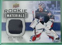 2019-20 Upper Deck Elvis MERZLIKINS  ROOKIE Materials Jersey, Blue Jackets
