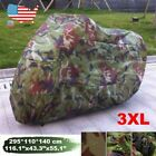 XXXL Camo Motorcycle Dust Rain Cover For Harley Street Electra Road Glide King