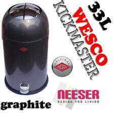Wesco KICKMASTER 33L DESIGN ABFALLEIMER BIN GRAPHIT 184631-13 poubelle waste bin