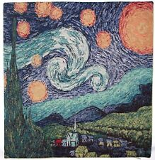 "NEW VAN GOGH STARRY NIGHT 42CM 17"" BELGIAN TAPESTRY CUSHION COVER C106"