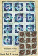 Pattern Large Triangle Block Fat Quarter Quilt Uncut Oop Black Cat Creations