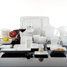 MALACASA REBECA 40PCS Porcelain China Dinnerware Dinner Service Sets Plates