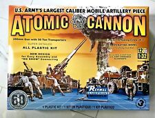 REVELL / RENWAL 1/32 US ARMY ATOMIC CANNON MODEL KIT ITEM 85-7818  / 85-7811 F/S