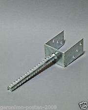 U Pfostenträger mit 200mm Dolle feuerverzinkt für 70-140mm breite Pfosten NEU