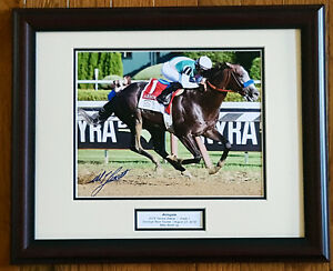 Arrogate Travers Stakes 8x10 Framed Photo Signed Mike Smith New!