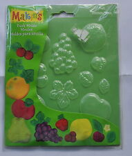 Makins Fruit Push Mold for Polymer Clay or Fondant Icing