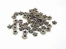 50 pcs-tibetan silver 7mm bead caps perles bijoux craft findings G108