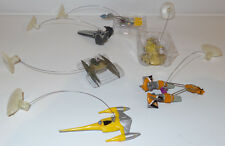 STAR WARS THE PHANTOM MENACE : SET OF 6 DANGLERS - SHIPS, POD RACERS (F)