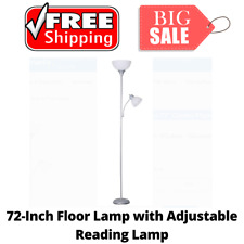 72 Inch Combo Floor Lamp with Adjustable Reading Lamp...