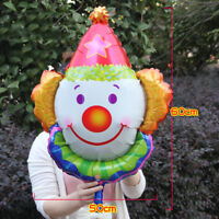 Cute Clown Head Foil Balloon Kids Birthday Carnival Circus Juggling Party Decor