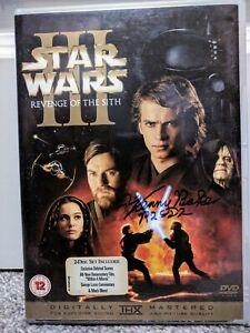 Signed Kenny Baker + Jeremy Bulloch Star Wars Revenge Of The Sith DVD