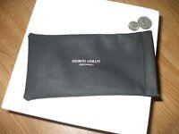 Giorgio Armani Occhiali unisex black microfiber eyeglass sunglass case